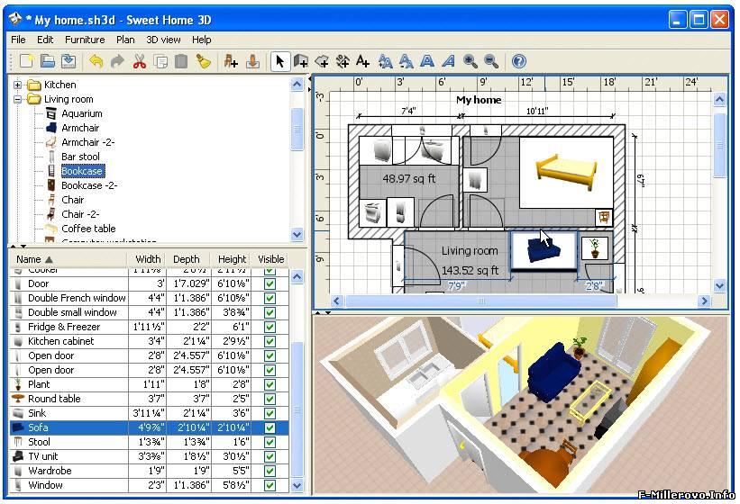 Sweet home 3d программа дизайна интерьера mimi.su.